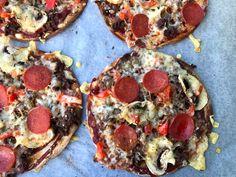 Lompepizza med karbonadedeig og pepperoni - LINDASTUHAUG