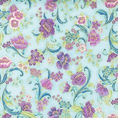Robert Kaufman Fabrics: SRKM-15839-192 SPRING from Grand Majolica
