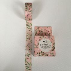 Boxed Washi Tape White Bloom Pink Floral by ThePurpleOnionBooks