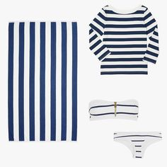 The Ultimate A-to-Z Shopping Guide to the Fourth of July Weekend Bandeau Bikini, Bikini Tops, Yes Way Rose, Heidi Klein, Gingham Shorts, Vacation Style, Stripe Top, Klein Blue, Nantucket