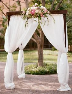 Lovely, simple chuppah