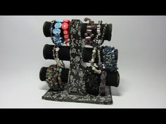 ▶ Tutorial. Organizador de pulseras. Portapulseras. 2ª parte. - YouTube