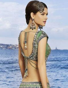 Saree Blouse Designs And Styles Stringed Back Saree Blouse Bridal