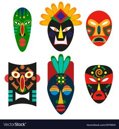 Traditional mask of African tribes. Religious mask of shamans or voodoo. Ancient… Traditional mask of African tribes. Religious mask of African, African Symbols, Mask Drawing, Art, African Crafts, African Art Paintings, Art Tutorials, Masks Art, Africa Art