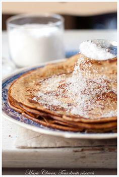 Crêpes sucrées à la vanille, cannelle et rhum