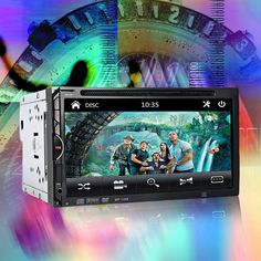 2 Din Car Video Player Support Rear View Camera DVD 7'' HD Touch Screen Bluetooth Stereo Radio Car Audio Auto Electronics