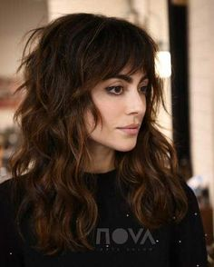 15 Cute Haircuts That Will Inspire You to Chop Your Strands Right This Second Haircut 1 jpgSexy Texture anyone? Color Cut/Style byMane: (n.) A head of distinctly long, thick hair. Straight Hairstyles, Cool Hairstyles, Natural Wavy Hairstyles, Full Fringe Hairstyles, Medium Curly Haircuts, Long Shag Hairstyles, Blonde Hairstyles, Easy Hairstyle, Everyday Hairstyles