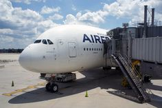 Air France operates daily, year-round flights on the Airbus A380 from Washington-Dulles to Paris out of gate A20/A22.