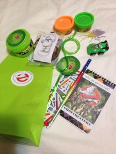 Goody bag ideas for ghostbusters birthday party.                                                                                                                                                                                 More