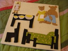 Goldilocks and the Three Bears felt story board idea. I love this because it looks like the one my mom made me when I was a little girl.