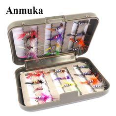Anmuka Dry Fly Lures 24pcs Flies Fishing Bait 1.8 Single Hook Freshwater Fishing Lure Plastic Box Pesca Fishing Tackle #Affiliate
