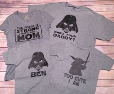 Star Wars Family Shirts by BlissGiftShop on Etsy https://www.etsy.com/listing/267634792/star-wars-family-shirts