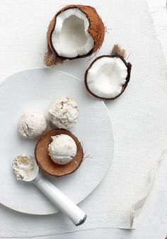 코코넛 바나나 아이스크림
