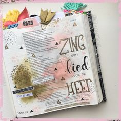 Voorbeeld biblejournaling Nederland Jesaja 12:5