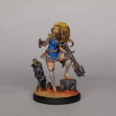 Painted by Carlos Martinez Fantasy Miniatures, Miniture Things, Warhammer 40k, Pin Up, Princess Zelda, Model, Figs, Character, Miniatures