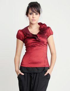 blusa com babado no decote - Pesquisa Google