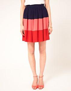 Color Block Skirt via ASOS. Definitely loving this!