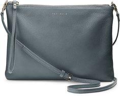 Leder Abendtasche von Coccinelle in grau dunkel für Damen. Gr. 1