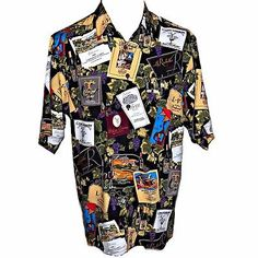 458296b3e36 Reyn Spooner Ltd Ed Livermore Valley Wineries Wine Labels Hawaiian Aloha  Shirt L Vintage Names