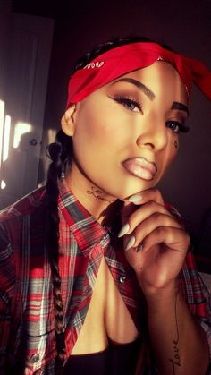 Chola Halloween Makeup FB: Be Glamorous with Kat Mexican Halloween, Couple Halloween, Scary Halloween, Halloween 2020, Gangster Fancy Dress, Gangster Girl, Chicano, Cholo Costume, Gangster Halloween Costumes