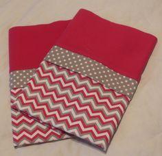 Handmade Flannel Chevron Pillowcase SET Standard/Full by Fabricatedwithlove on Etsy