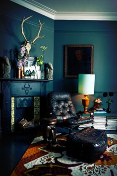 Dark, moody interiors by the ever-impressive queen of dark interiors Abigail Ahern