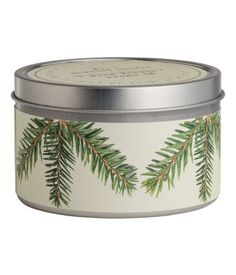 Duftlys i metallboks   Hvit/Pine Forest   H&M HOME   H&M NO