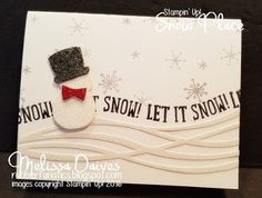 Stampin' Up! Snow Place by Melissa Davies @rubberfunatics #stampinup #rubberfunatics