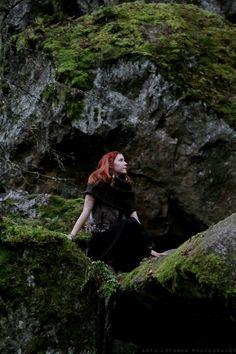 (c) Arto Löfgren photography   #celtic #photoshoot #fairy #forest #notalone #bythecave #cavern #protector #forestspirit #finnishgirl #finnishforest #autumn #mysterious