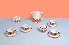 Porcelain coffee set from Lubiana