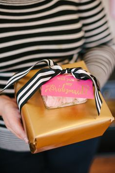 Will you be my bridesmaid? A @kate spade new york  inspired dinner party by The Perfect Palette / Photo by Lauren Rae Photography http://www.theperfectpalette.com/2014/01/a-chic-and-swanky-kate-spade-inspired.html