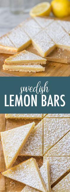 Lemon Dessert Recipes, Easy No Bake Desserts, Lemon Recipes, Sweet Recipes, Delicious Desserts, Yummy Food, Lemon Cookies, Lemon Cupcakes, Bar Cookies