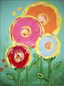 kids day lollipop flowers fairport painting class painting with a - Kids Painting Images