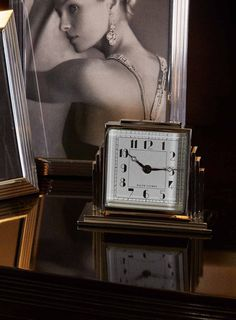 The iconic architecture and glamour of the '30's is captured in the Athena Deco Clock from Ralph Lauren Home