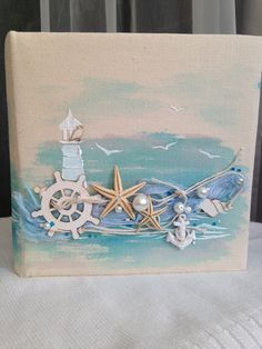 Best 12 Beach Decor of Seashell Art, Beach Bathroom Decor Wall Hanging, Coastal Wall Art of Shells on Glass, Coastal Decor of Seashell Glass Art by on Etsy by lucia – SkillOfKing. Sea Crafts, Diy And Crafts, Arts And Crafts, Seashell Art, Seashell Crafts, Deco Marine, Sea Art, Beach House Decor, Home Decor