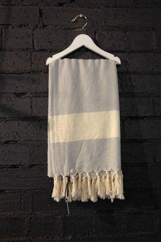 Carousel Diamond Turkish Towels in Light Grey