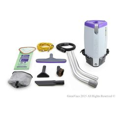 NEW More Powerful Proteam Super Coach Pro 10 Qt. Backpack Vacuum Cleaner, Grays
