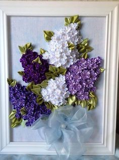 Wonderful Ribbon Embroidery Flowers by Hand Ideas. Enchanting Ribbon Embroidery Flowers by Hand Ideas. Ribbon Embroidery Tutorial, Silk Ribbon Embroidery, Cross Stitch Embroidery, Embroidery Patterns, Hand Embroidery, Garden Embroidery, Embroidery Saree, Ribbon Art, Ribbon Crafts