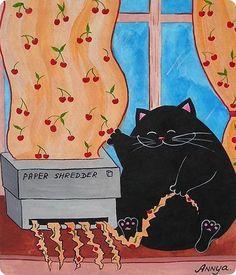 La vida laboral de un gato negro /