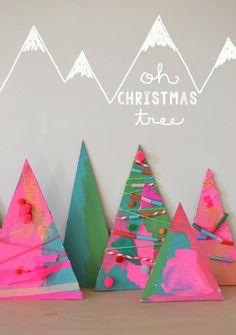 Holiday Art // Christmas Tree Assemblage