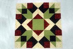 "Arrow Crown is a 24"" square quilt block pattern, and a design that offers loads of opportunities for customization."