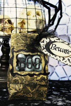 The Sizzix Challenge Halloween | Boo Treat Bag by Michelle Stewart