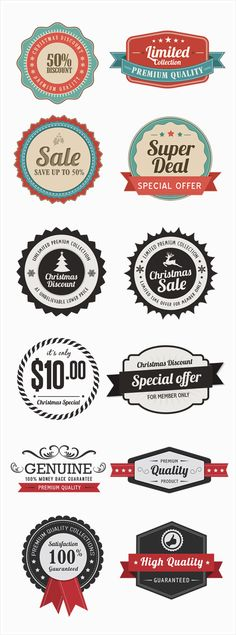 Retro Web Badges Designs by ANANTA BOSE, via Behance