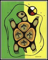 Norval Morrisseau - Turtle and Birds