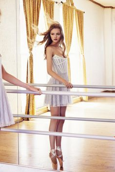 "The Look: Swan Lake - Vlada Roslyakova in Love and Lemons' ""Black Swan"" Holiday 2013 collection"