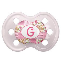 Girly Patchwork Monogram Pacifier