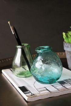Imperfect Little Vases - Green or Turquoise