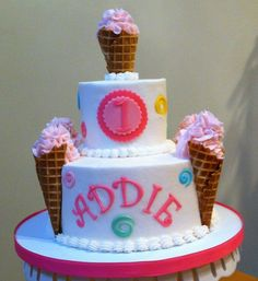 First birthday Ice cream cone Cake I think this is the ONE!!!