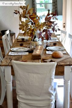 Hello!   I spent the weekend gathering up fun items to decorate our dining room table for the upcoming Thanksgiving holiday. I love Thanksg...