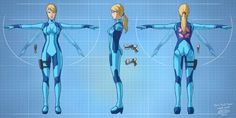 Zero Suit Samus model sheet by glitcher.deviantart.com on @DeviantArt